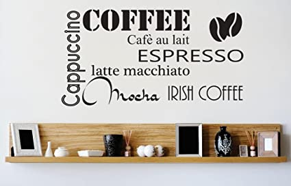 Peel Stick Wall Decal Sticker Coffee Cappuccino Espresso Mocha