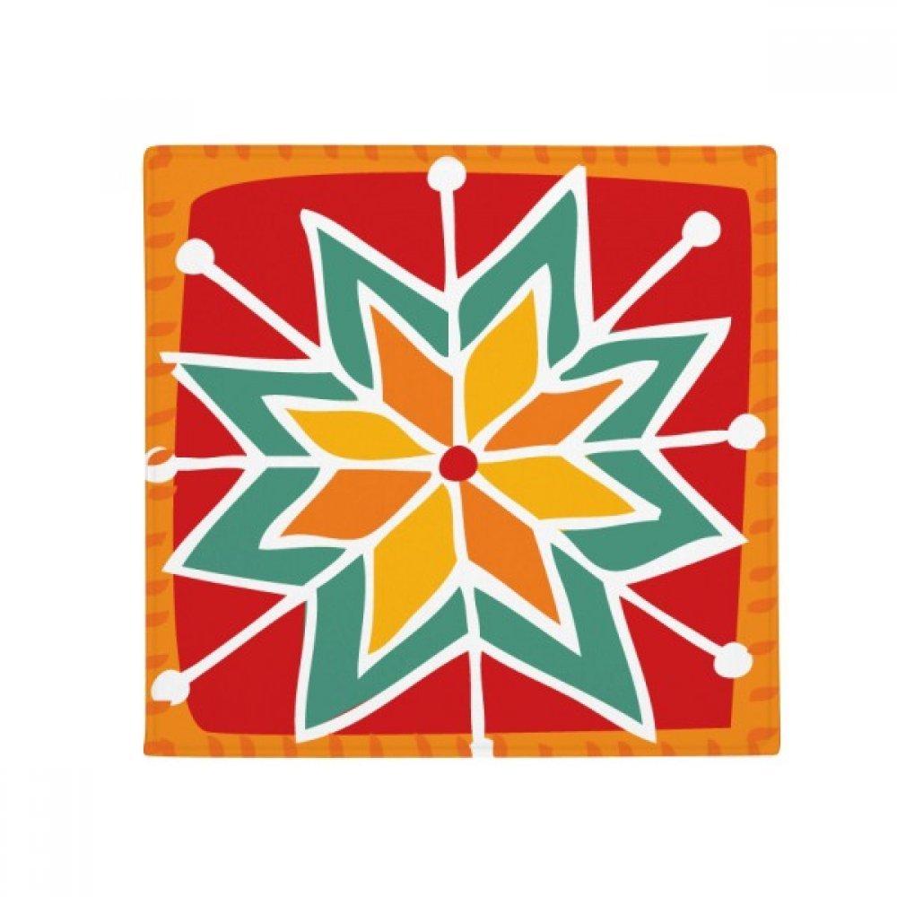 DIYthinker Sun Flower Mexico Totems Ancient Civilization Anti-Slip Floor Pet Mat Square Home Kitchen Door 80Cm Gift