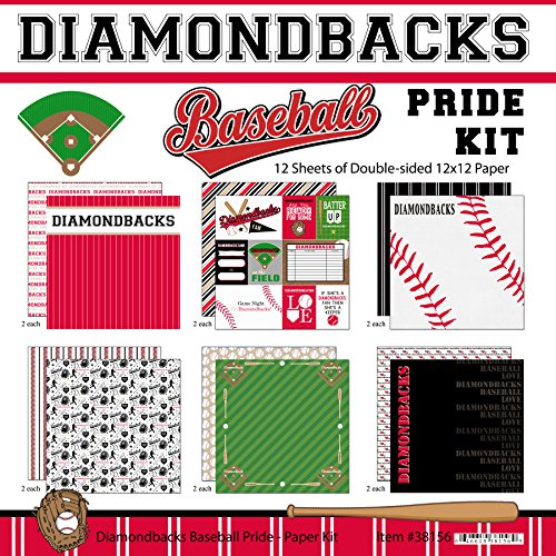 Made Diamond Plate Custom - Scrapbook Customs Diamondbacks Pride Baseball Scrapbook Kit
