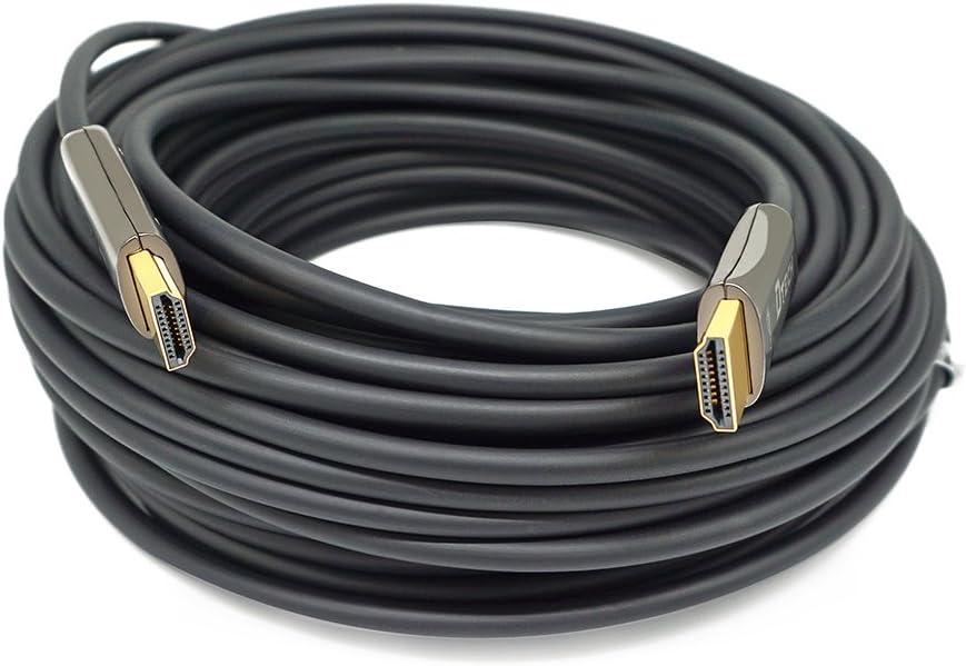 Cable de fibra optica,100 pies Admite 4K a 60Hz 18Gbps
