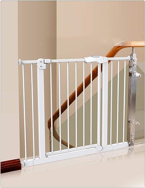 Wp-aqm - Puerta de Seguridad para escaleras, Puerta de Seguridad para niños, instalación a presión sin Perforaciones, Ajustable y Ampliable, Apto para escaleras, pasillos, pasillos y escaleras: Amazon.es: Hogar