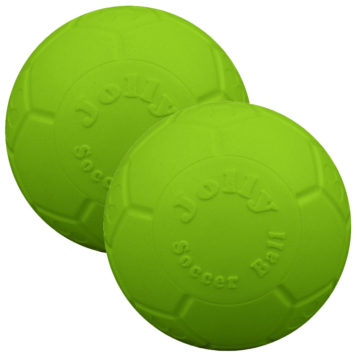Jolly Pets 6'' Soccer Ball, Green Apple (2 Pack) by Jolly Pets