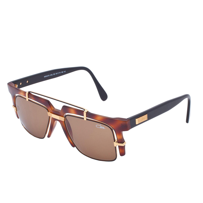 Cazal Sunglasses 873 Col. 722 Havana Gold Frame Brown Lens