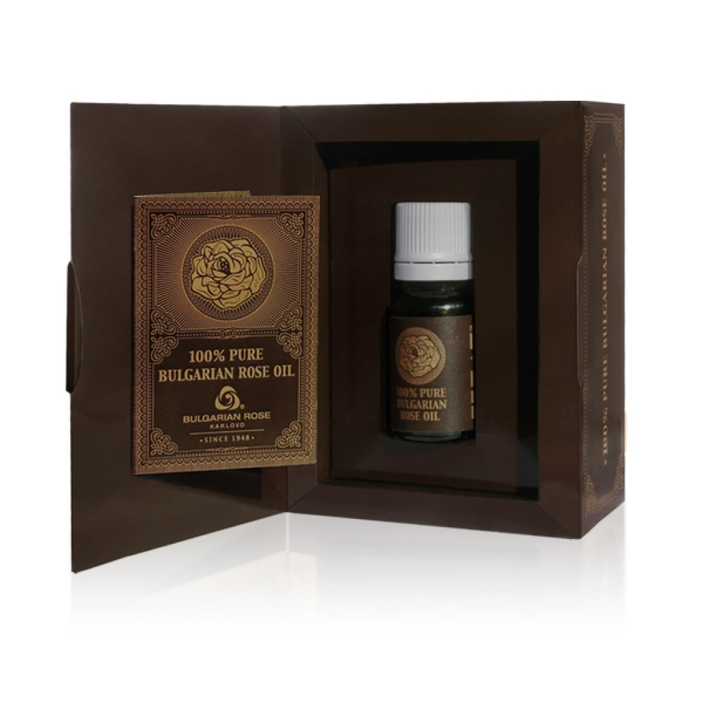 100% Pure Rose Essential Oil Bulgarian Rose Damascena Damask Otto Attar 5 ml Certificate of Authenticity Included