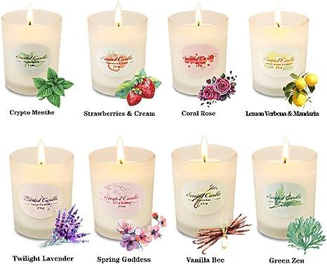Amazon.com: Juego de velas aromáticas para regalo de Navidad ...