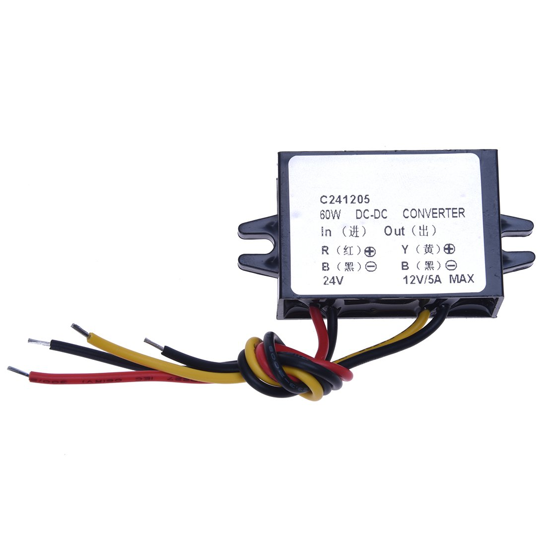 TOOGOO(R) DC/DC Convertisseurs electriques Buck Converter 24V to 12V 5A 60W Step-Down Module Car Power Supply Voltage