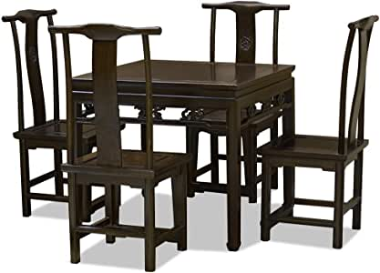 Amazon.com: China Furniture Online Elmwood Table Hand Carved Ba-Xian Style Table with 4 Ming
