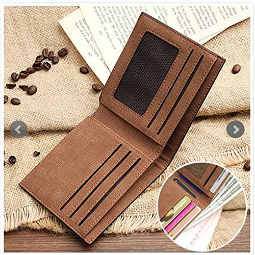Single Gift Short Genuine RFID Purse Men's Card Holder Leather wallet male Brown Blocking Light Christmas photo Side Personalised custom xT6Cgqww