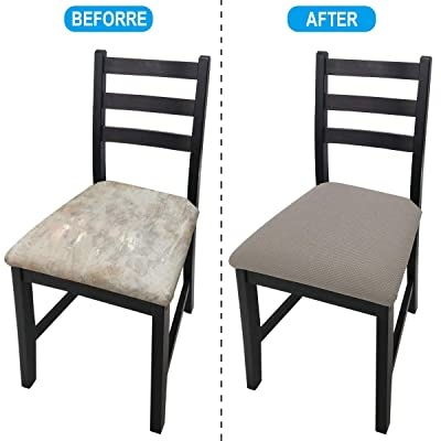 Buy Seat Covers For Dining Room Chairs Kitchen Chair Seat Cushion Slipcovers Chair Seat Covers Protector Set Of 4 Taupe 4 Pack Online In Vietnam B089sxyqcl