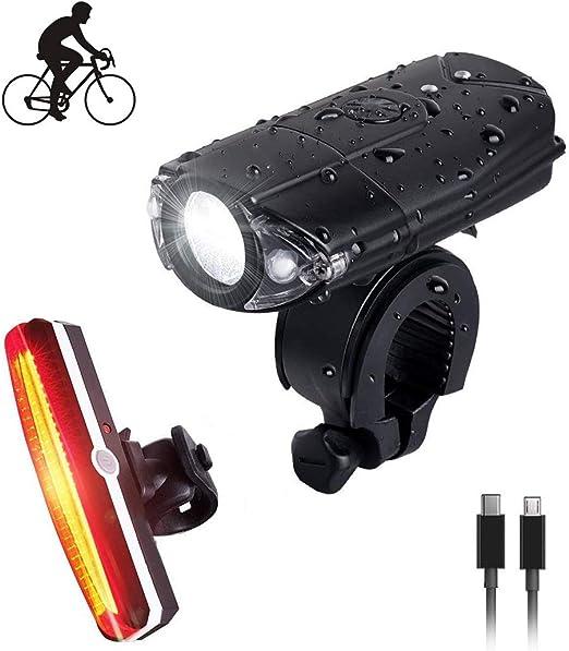 Juego de luces de bicicleta recargables USB, bicicletas para ...