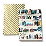 Kate Spade Small Notebook Set - Like a Book/Gold Stripe