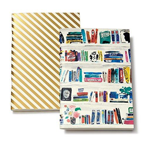 kate spade new york Notebook Set - Bella Bookshelf/Gold Stripe