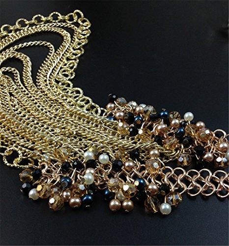 Mode Style Européen Vendu Bien Créatif Alliage Cristal Frange Multicouche Cadeau Femmes Collier
