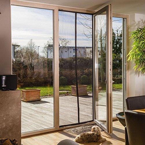 freiluftraum magnet fliegengitter t r vorhang i 100 x 220 cm schwarz ebay. Black Bedroom Furniture Sets. Home Design Ideas