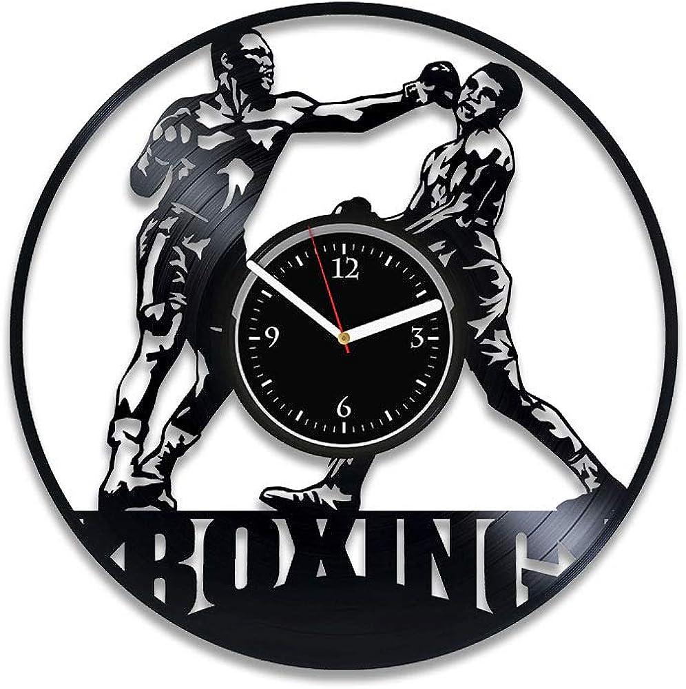 Clock Boxing Vinyl Record Clock Boxing Wall Clock Vintage Boxing Clock Boxing Vinyl Wall Clock Boxing Gift For Man Boxing Gift For Him Boxing Xmas Gift Boxing Vinyl Clock Sport Gift