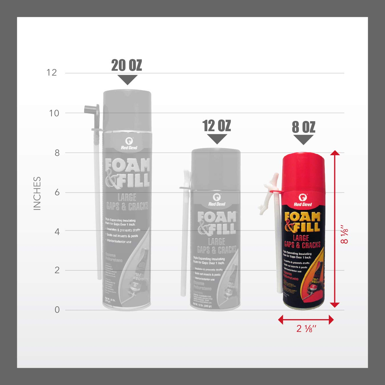 Red Devil 0908 Foam & Fill Large Gaps & Cracks Polyurethane Foam Sealant 8 oz Off White - - Amazon.com