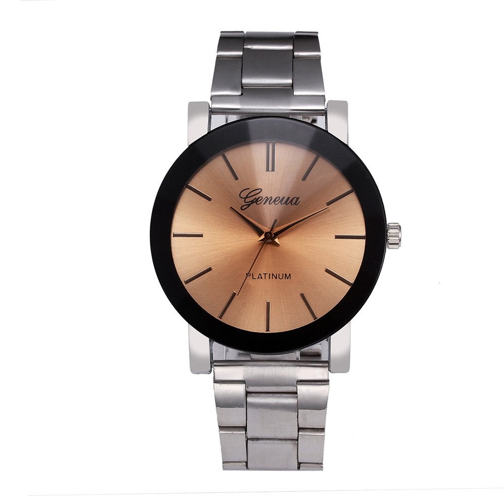 Watches for Men,Clearance Men Crystal Quartz Watch,Wugeshangmao Fashion Analog Wrist Watch Wrist Watch Business Casual Watches Gift,Round Dial Case Stainless Steel Strap Band Watches