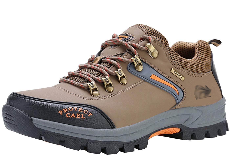HhGold Männer Wanderschuhe Stiefel Leder Wanderschuhe Turnschuhe Für Outdoor Trekking Training Beiläufige Arbeit (Farbe : 24, Größe : 43EU)