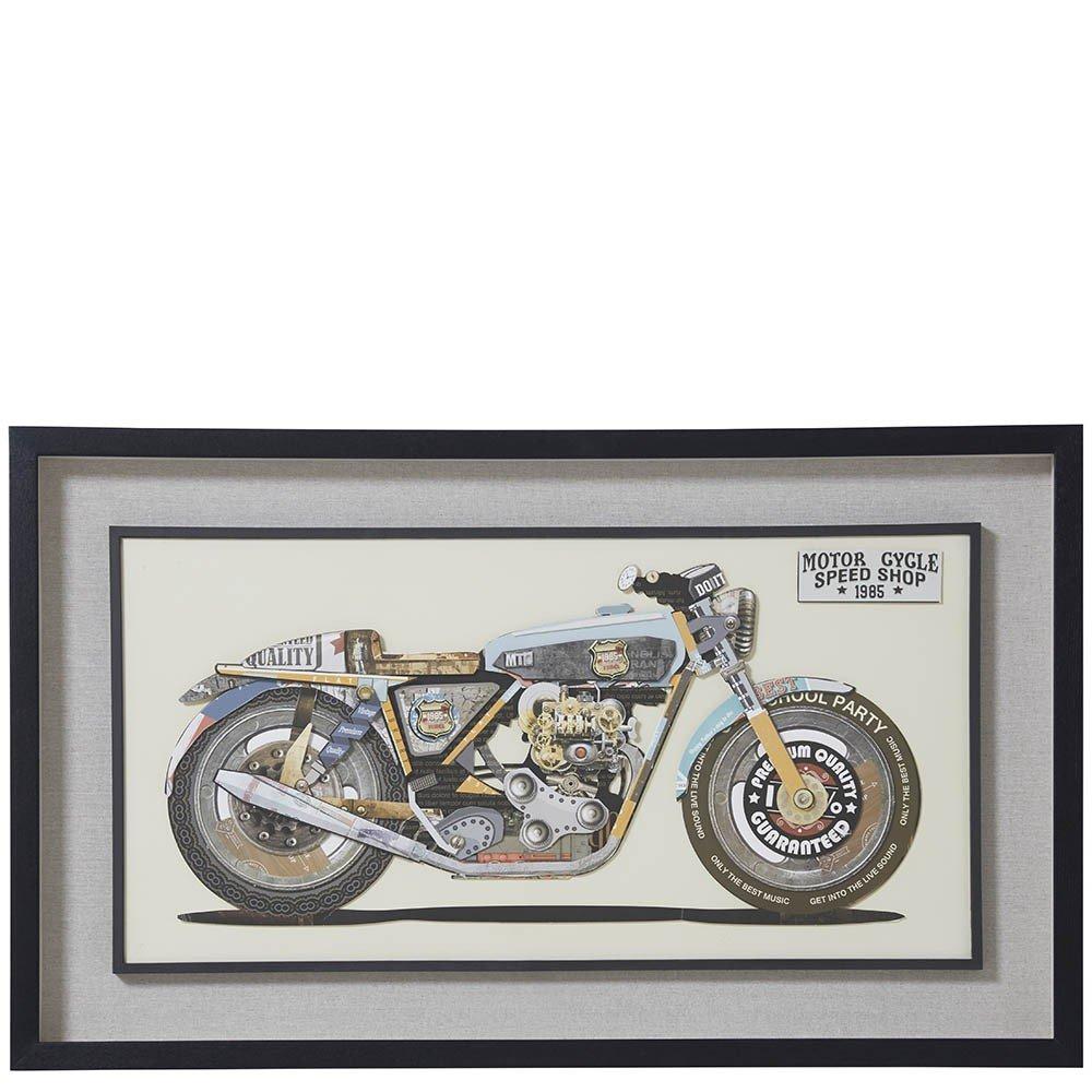 Homy Collage Motorrad Papier Rahmen Schwarz 100x60x5cm - Modell Bike ...