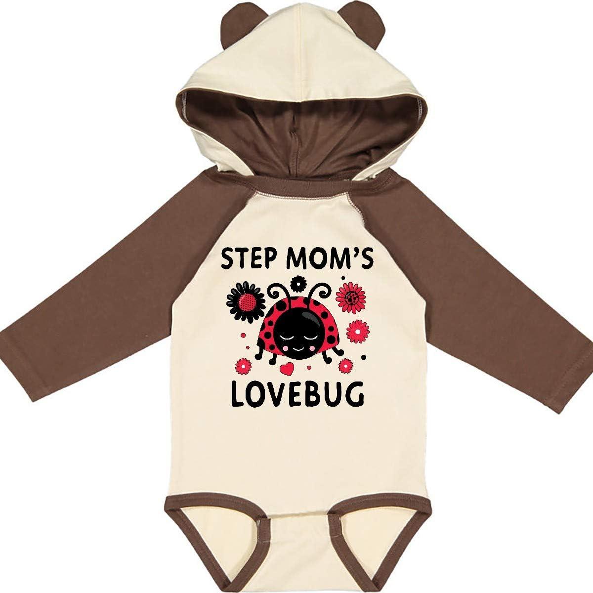 inktastic Valentines Day Step Moms Lovebug Long Sleeve Creeper