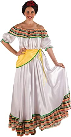 Disfraz mejicana color blanco. Talla 42/44.: Amazon.es: Juguetes y ...