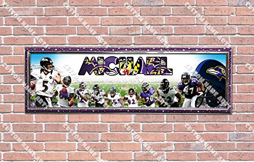 Personalized Customized Baltimore Ravens Poster With Frame, With Your Name On It, Party Door Poster, Room Art Decoration, Wall Decor ()