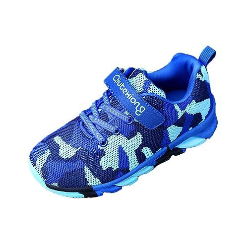 classcic très loué enfant BINGMAX Sneakers Enfant d'hiver Camouflage Baskets Garçon Chaussure de  Course Sport Chaussure de Montagne Scolaire pour Enfant