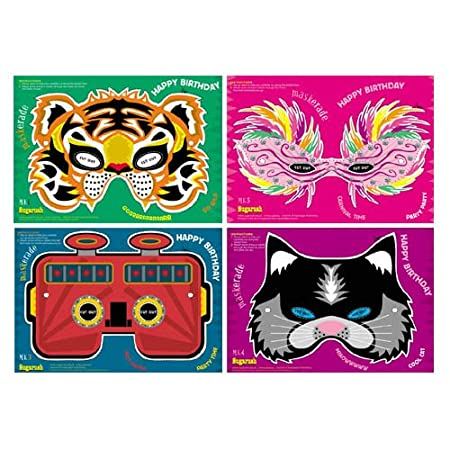 mask cards birthday cards with cut out masks amazon co uk kitchen