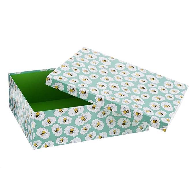 Cajas Forradas Azules de cartón Multiusos Infantiles para decoración Child - LOLAhome: Amazon.es: Hogar