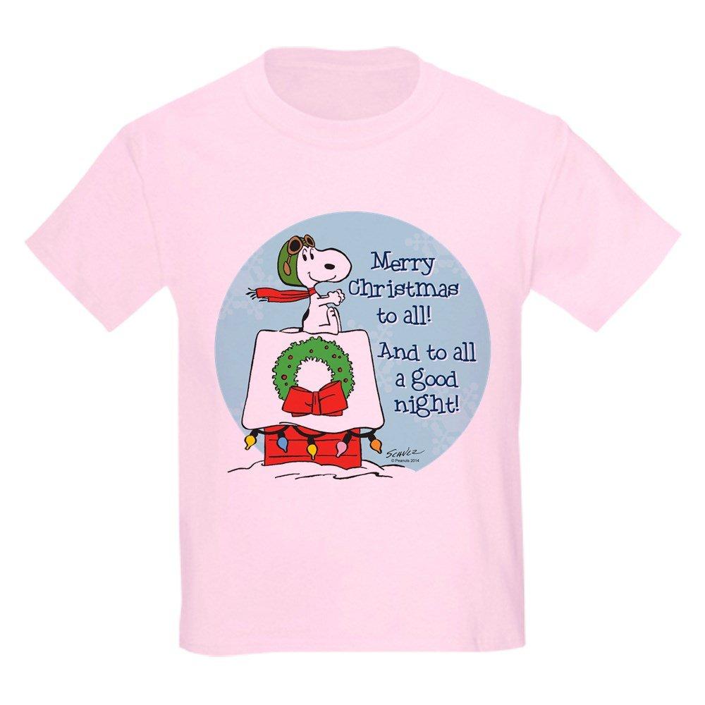 9276e411 CafePress Snoopy: Merry Christmas to All Kids T-Shirt: Amazon.co.uk:  Clothing