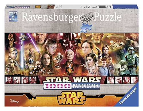 Star Wars Puzzle Panorama 1000 Piece Premium Jigsaw Puzzle Ages 12+ Episode I - VI
