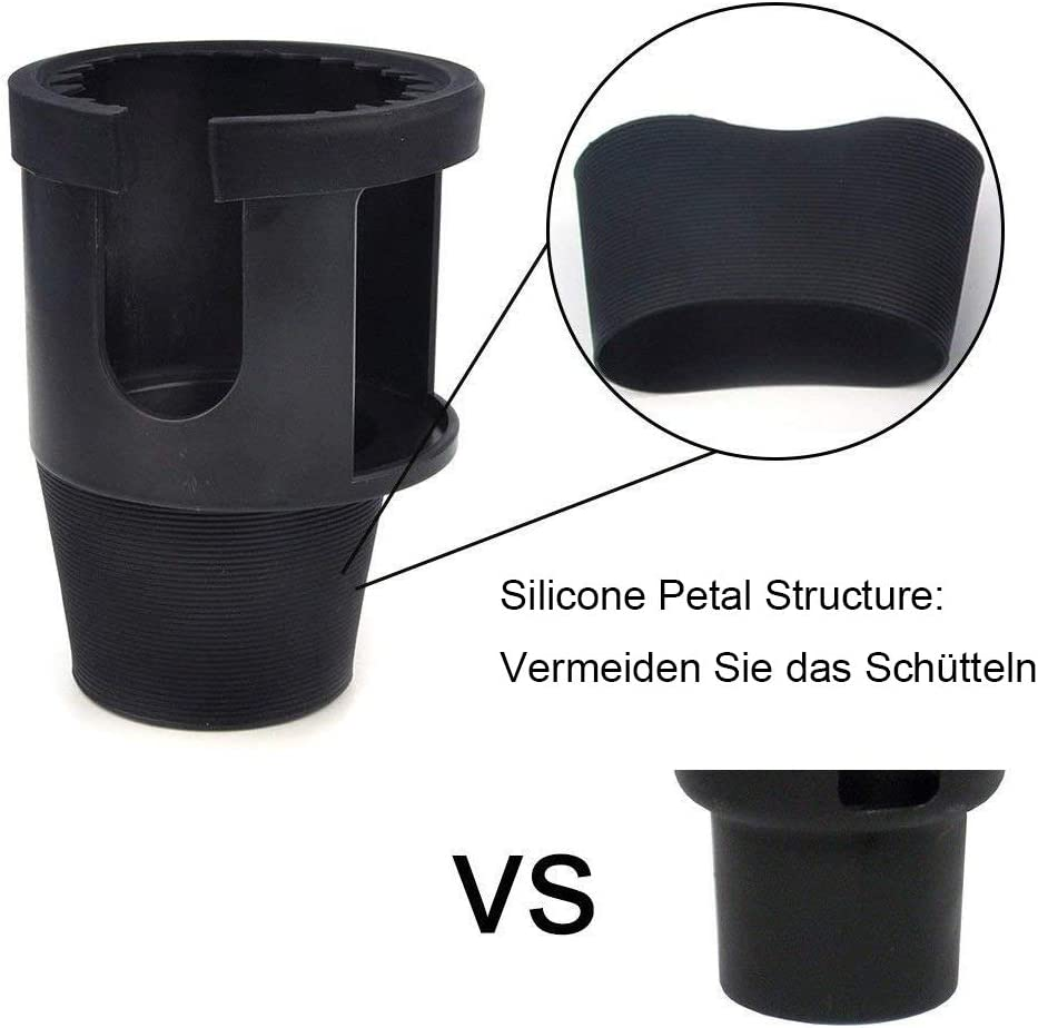 colore nero si adatta a bottiglie e tazze di varie dimensioni Portabottiglie per auto