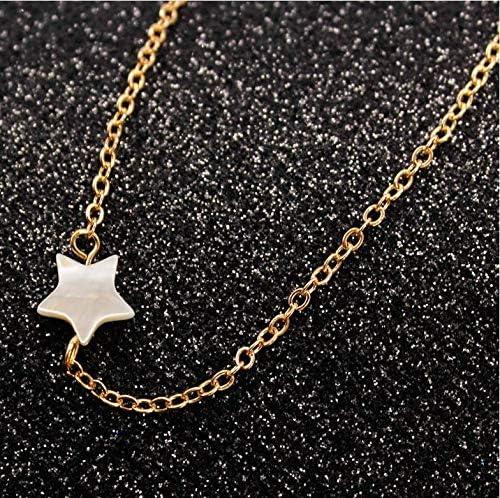 Collar con colgante de estrella y cadena corta para mujer y ni/ña Yean