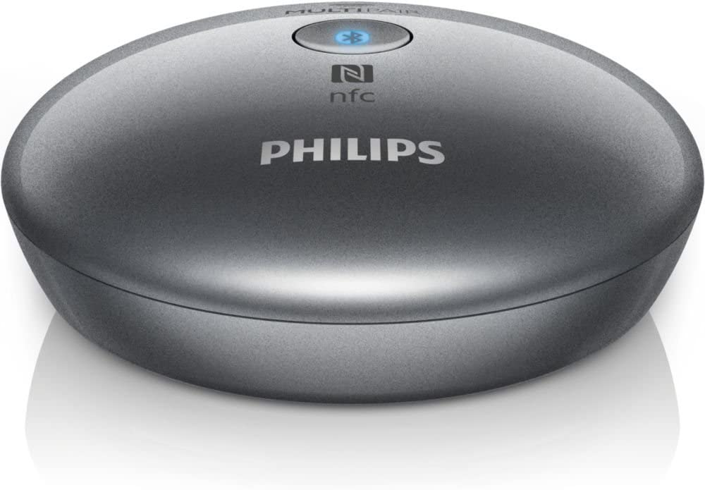 Philips AEA2700 - Adaptador de Audio (NFC, Bluetooth, 3.5 mm), Plateado
