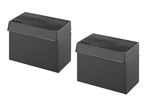 Schedario Ufficio Nero : 2 x herlitz schedario apprendimento box din a7 colore: nero: amazon