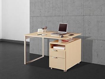 Mesa de despacho Viena 120 cm. con cajonera. Escritorios para oficina, ordenador, haya