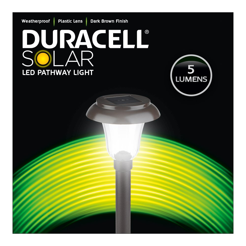 Duracell Brand D Rs2pb R5 Db T6 Solar Powered Outdoor Led Garden Path Light Circuit Board Pathway 6 Pack Dark Brown Home Improvement