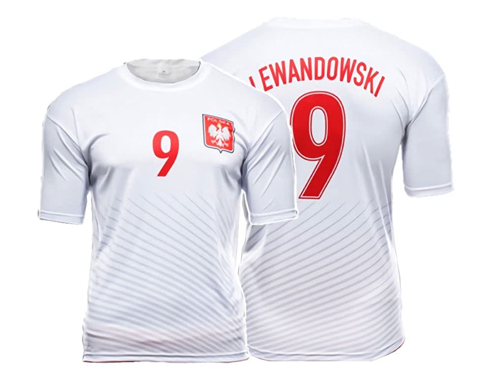promo code 1851b 056c9 Sports Outlet Express Polska Robert Lewandowski #9 Replica Polish Soccer  Jersey Poland Pride