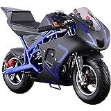MotoTec Cali 40cc Gas Pocket Bike Blue