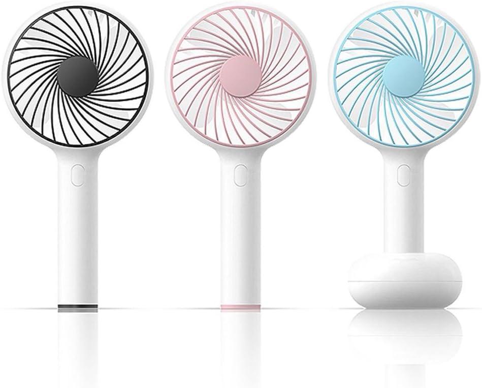 YAXIAO Ventilatore Portatile Muto Portatile Mini Ventilatore Ricaricabile Fan (Color : Pink) Blue