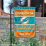WinCraft Miami Dolphins 2 Time Super Bowl Champions Double Sided Garden Flag