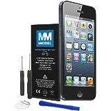 Akku für Iphone 5 Li-Ion Batterie 3.8V 1440mAh 5.45Wh mit 2 x Schraubenzieher 1 x Hebelwekzeug 1 x Saugnapf und Anleitung MMOBIEL