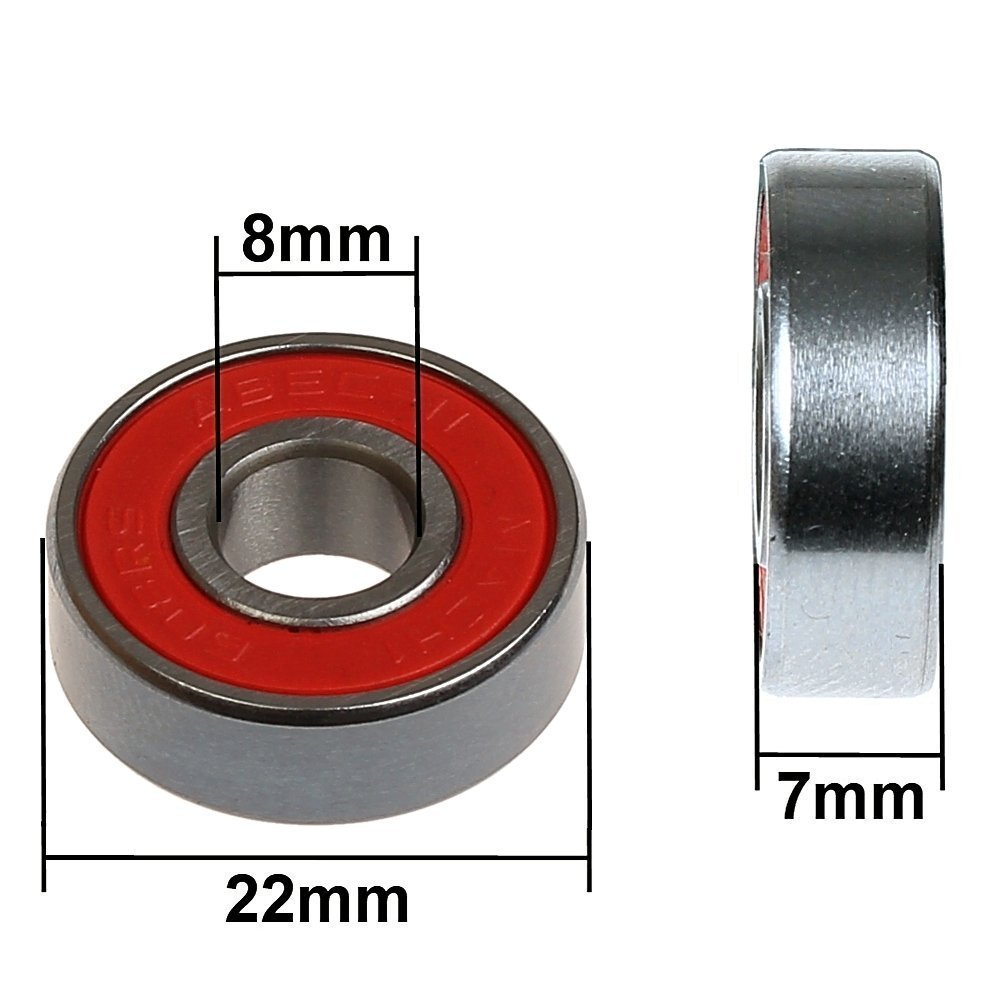 Mach1 Kugellager//Wheels H/ärtegrad 92A FunTomia 4X Rollen 48mmx35mm f/ür Skateboards inkl