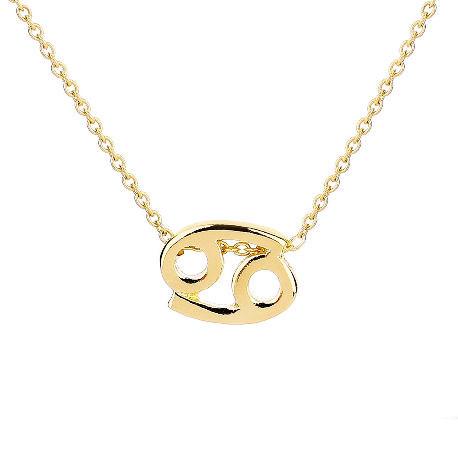 ForeveRing Z Message Card 12 Constellations Necklace Woman Jewelry 12 Zodiac Sign Tag Pendant Necklace Birthday Gifts