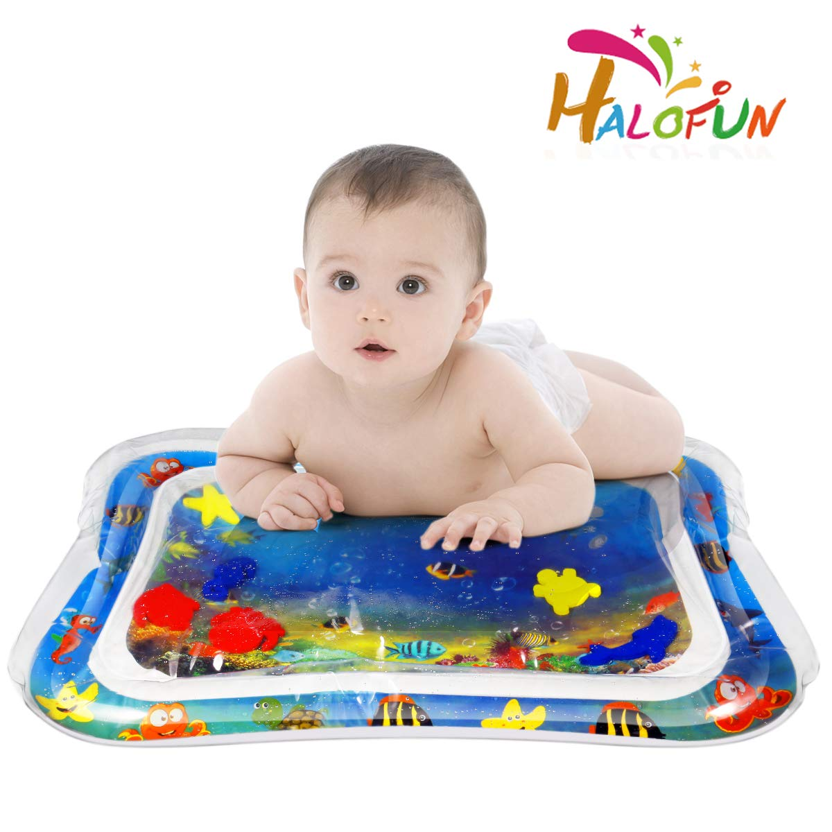 Baby Water Mat Tummy Time Inflatable Play Mat Floor