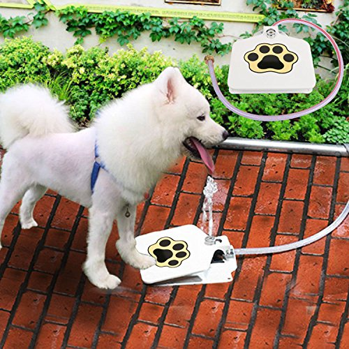 Pet Water Fountain Durability Trouble-Free Outdoor Dog Pet Drinking Doggie Water Feeder 41'' Hose by Positive Store