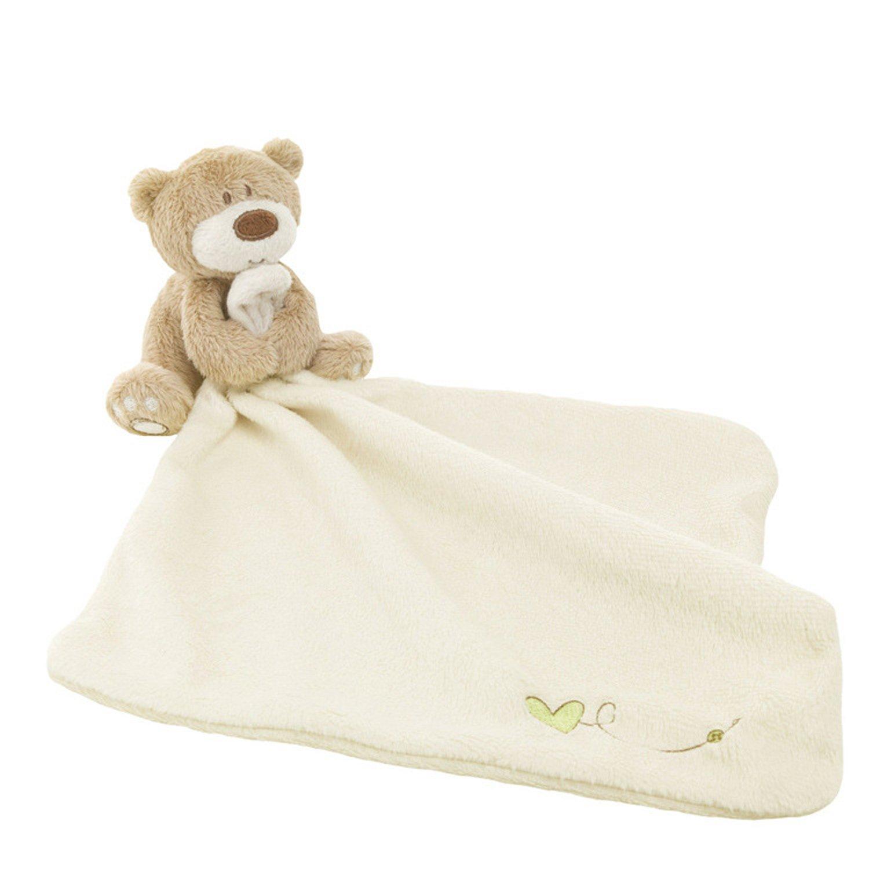 Lovely Bear Baby Security Blanket Beige Gosear