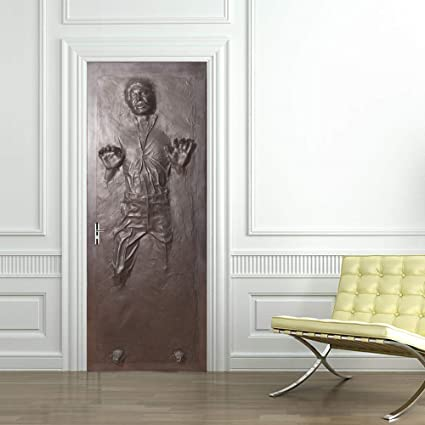 Amazoncom Han Solo Carbonite Door Wrap Decal Wall Sticker Mural