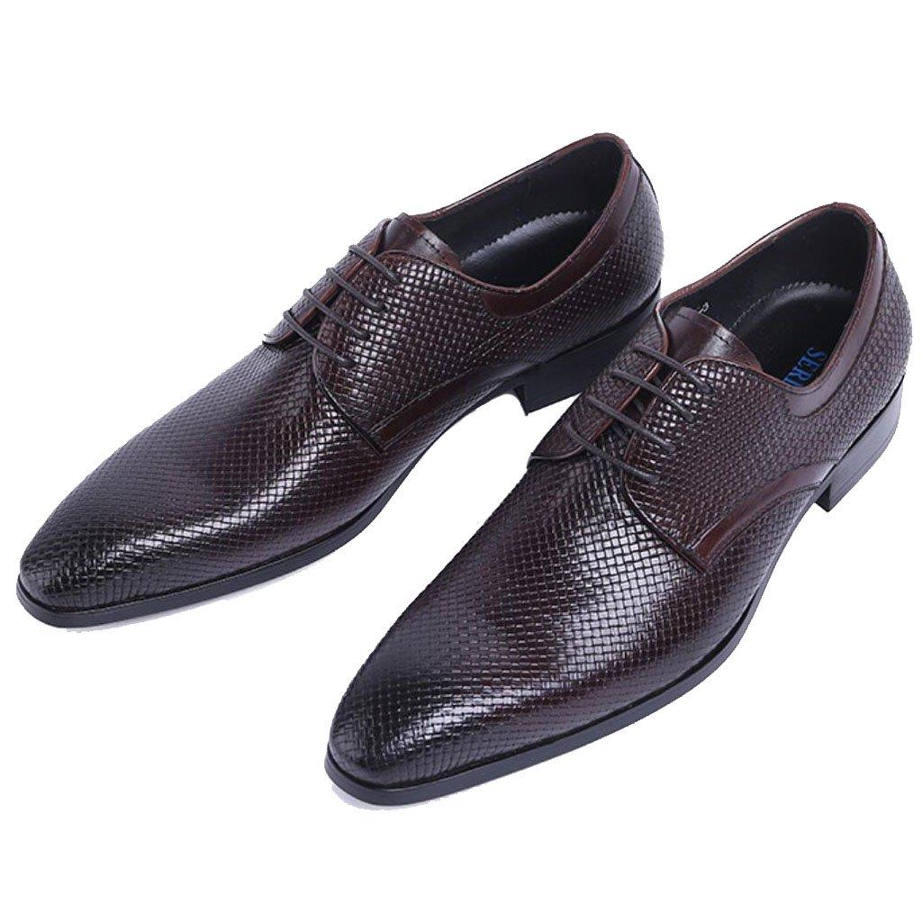 GAOLIXIA Zapatos de cuero a los hombres Zapatos informales de negocios Zapatos de fiesta formal de la boda Inglaterra Zapatos elegantes de los estilistas de pelo Zapatos profesionales de la oficina ( Color : Marrón , tamaño : 41 ) 41 Marrón