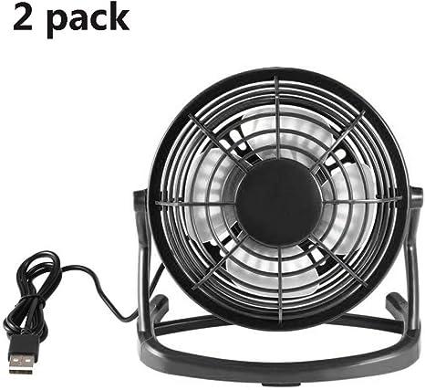 WSN Ventilador de Pared Industrial,Mini Ventilador Personal de sobremesa USB (diseño de Metal, Cable USB de ...
